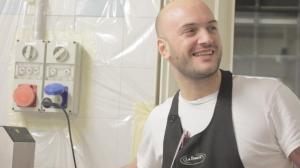 Leandro Carreira in azione (e sorriso)