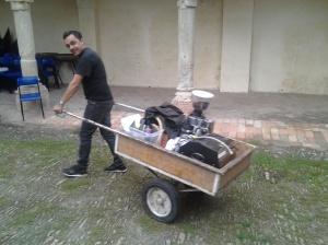Nik si allontana con la sua macchina dopo il Postrivoro con Luca Abbadir e Carlo Catani ( ottobre 2012)