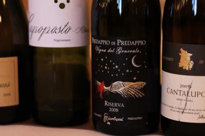 Alcuni dei vini selezionati da Francesco Falcone